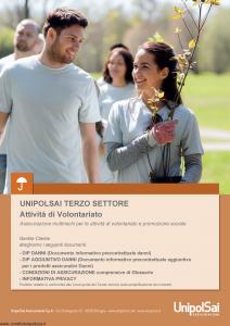 Unipolsai - Terzo Settore Attivita' Di Volontariato - Modello si-7400-001 Edizione 15-01-2019 [82P]