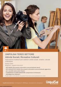 Unipolsai - Terzo Settore Attivita' Sociali Ricreative Culturali - Modello si-7400-003 Edizione 15-01-2019 [88P]