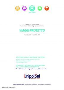 Unipolsai - Viaggi Protetto Multirischi Clienti Operatori Turistici - Modello 2223 Edizione 07-2016 [34P]