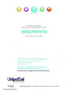 Unipolsai - Viaggi Protetto Multirischi Clienti Operatori Turistici - Modello 2223 Edizione 09-2017 [34P]