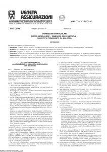 Veneta - Diarie Ospedaliere Rimborso Spese Mediche - Modello cs-am Edizione 01-1992 [SCAN] [4P]