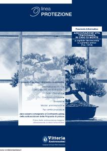 Vittoria - Assicurazione Vita Temporanea In Caso Di Morte Linea Protezione 721A - Modello pb000.001.0612 Edizione 31-05-2012 [30P]
