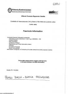 Vittoria - Vittoria Formula Risparmio Gestito 639U - Modello pb1139.0606 Edizione nd [34P]