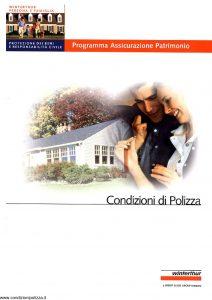 Winterthur - Persona E Famiglia Programma Assicurazione Patrimonio - Modello AE671N01 Edizione 07-2001 [29P]