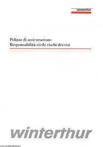 Winterthur - Polizza Di Assicurazione Responsabilita' Civile Rischi Diversi - Modello 007d Edizione 03-1995 [SCAN] [12P]
