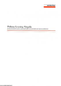 Winterthur - Polizza Leasing Singola - Modello ae809c01 Edizione 03-1998 [SCAN] [11P]