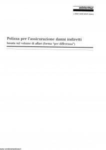 Winterthur - Polizza Per L'Assicurazione Danni Indiretti - Modello ae408c01 Edizione 02-2002 [SCAN] [14P]