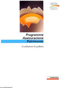 Winterthur - Programma Assicurazione Patrimonio - Modello ae671n01 Edizione 07-1998 [SCAN] [28P]
