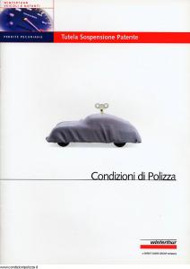 Winterthur - Tutela Sospensione Patente - Modello ae130n01 Edizione 06-2001 [SCAN] [13P]